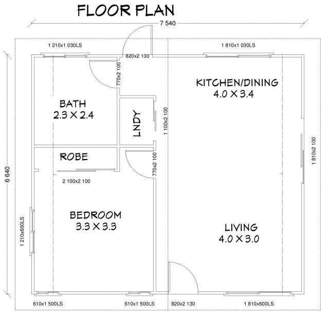 New one bedroom 50m2 granny flat brisbane granny flat for Granny flat floor plans 1 bedroom