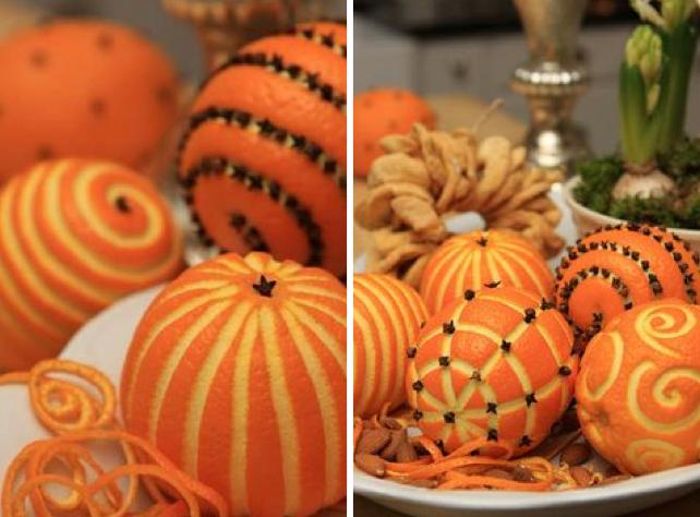 Plantez simplement quelques clous de girofle dans l 39 orange for Deco de table orange