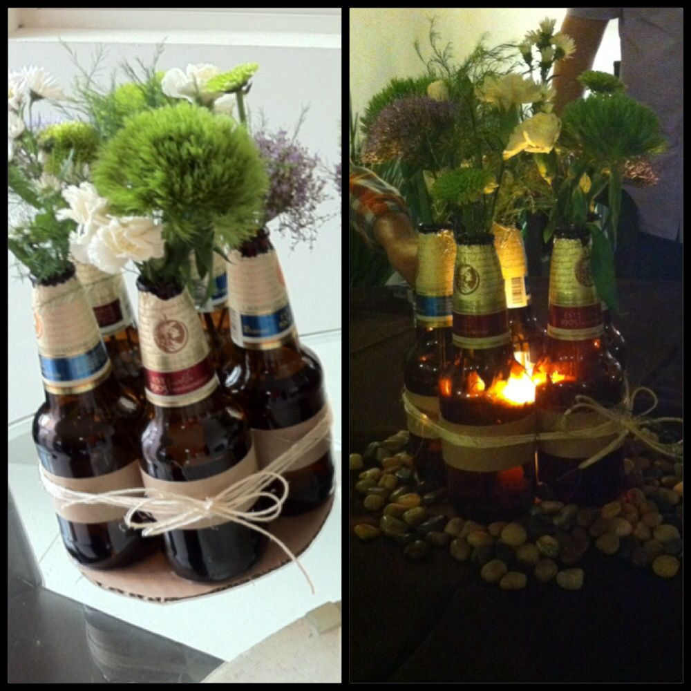 Incredible Beer Bottle Centerpiece Party For Him Wedding Ideas In Download Free Architecture Designs Lukepmadebymaigaardcom