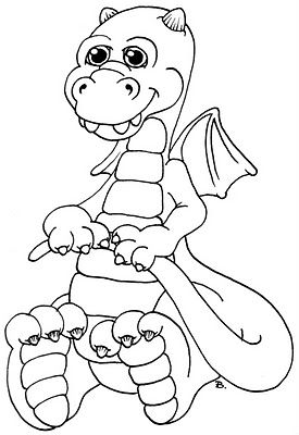 Kleurplaten Baby Draak.Baby Dragon Colouring Pages Pinterest Draken Kleurplaten En
