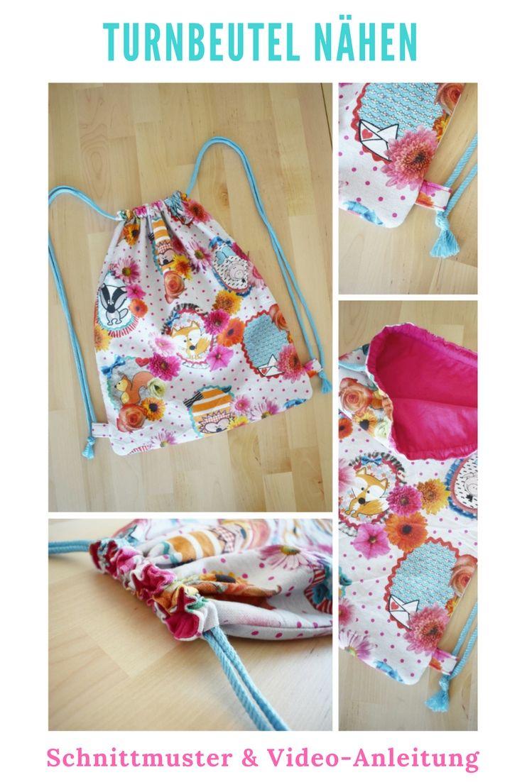 Couture de sacs de sport avec motif | BRICOLAGE MODE   – nähen