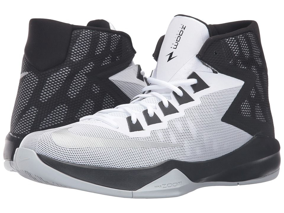 ac33c3ac9511 NIKE NIKE - ZOOM DEVOSION (WHITE BLACK METALLIC SILVER) MEN S BASKETBALL  SHOES.  nike  shoes