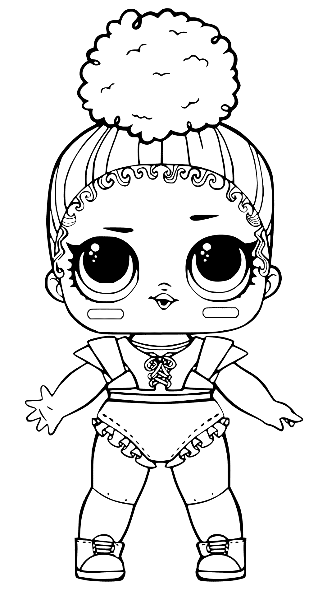 Lol Doll Coloring Pages Party Theme Unicorn Coloring