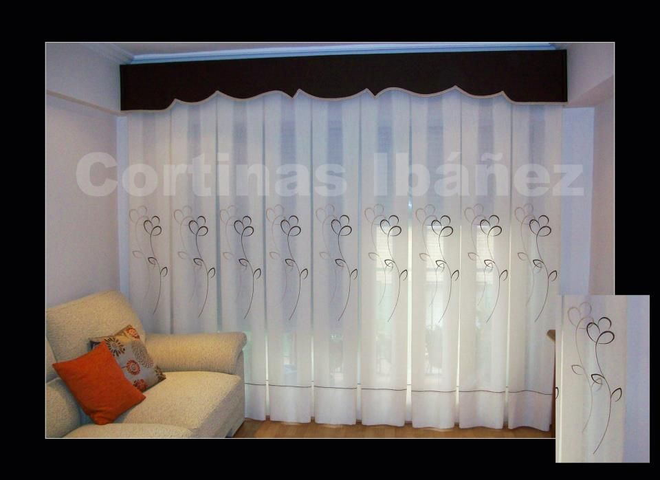 Cortina de visillo bordado y gotera con forma confeccion - Estores con cortinas ...