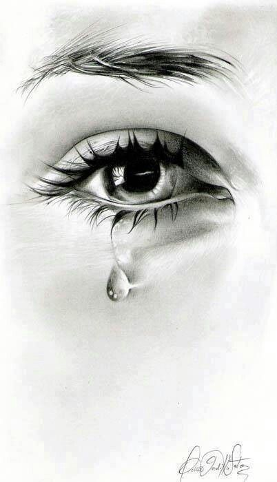 10 Drawings of Eyes with Tears & Crying Eye Step by Step