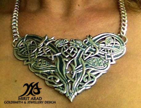 Dave Gahan back tattoo sterling silver by LittleTreasuresByMir