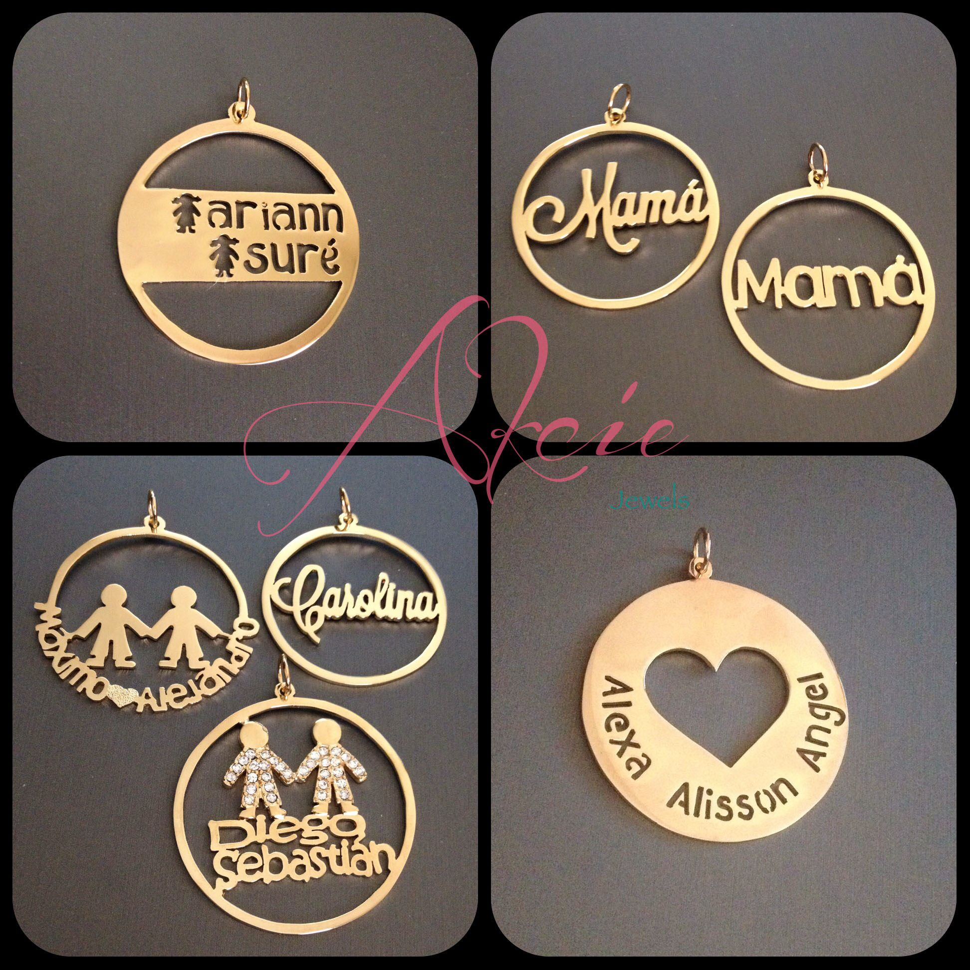 da2319527de7 Dijes circulares personalizados en oro laminado Joyeria De Oro