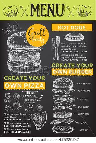 Menu Placemat Food Restaurant Brochure Menu Template Design - Creative menu design templates