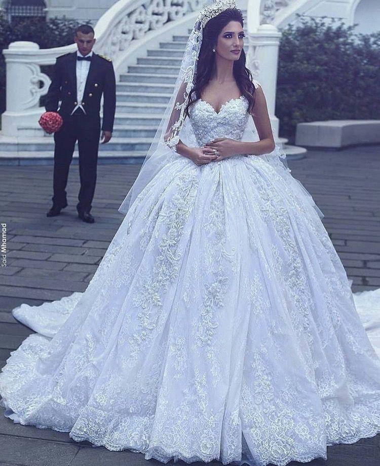 Pinterest Elegant Point Ball Gowns Wedding Ball Gown Wedding Dress Bridal Dresses Lace