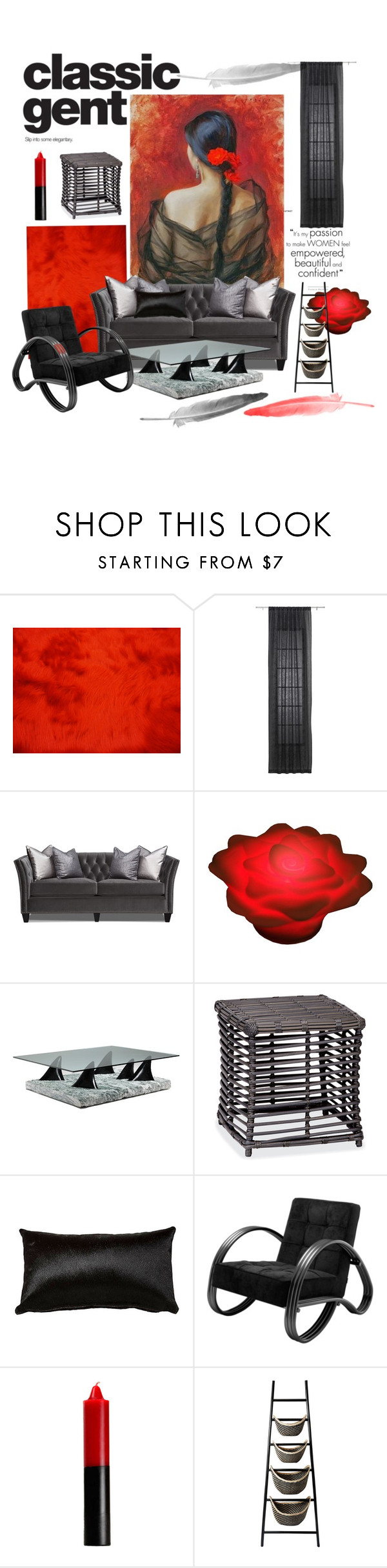 """""""Black and Red"""" by jesking ❤ liked on Polyvore featuring interior, interiors, interior design, home, home decor, interior decorating, CB2, Banana Boat, Thos. Baker and Eichholtz"""