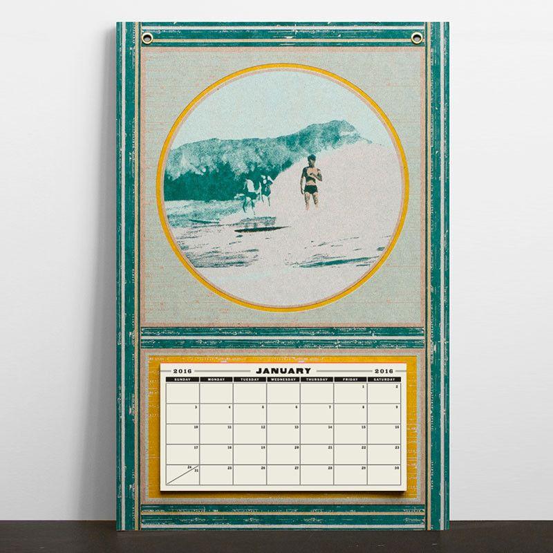 HAMMERPRESS Surfers Letterpress Wall Art Calendar Our Products