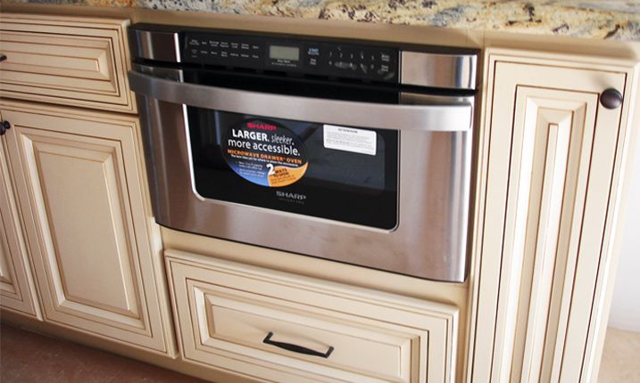cabinets microwave drawer oven