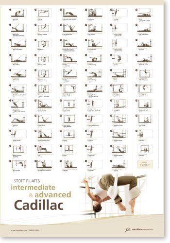Intermediate Reformer Fitness & Jogging Crosstrainer Stott Pilates Wall Chart