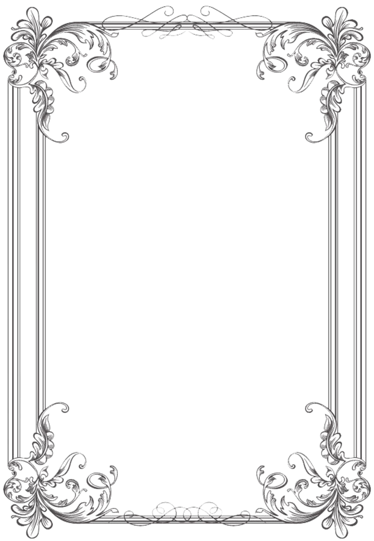 Free black Clip Art Borders and Frames weddings | Custom Vintage ...
