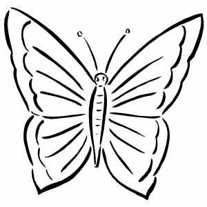 Printable Geometric Butterflies Coloring Pages Simple