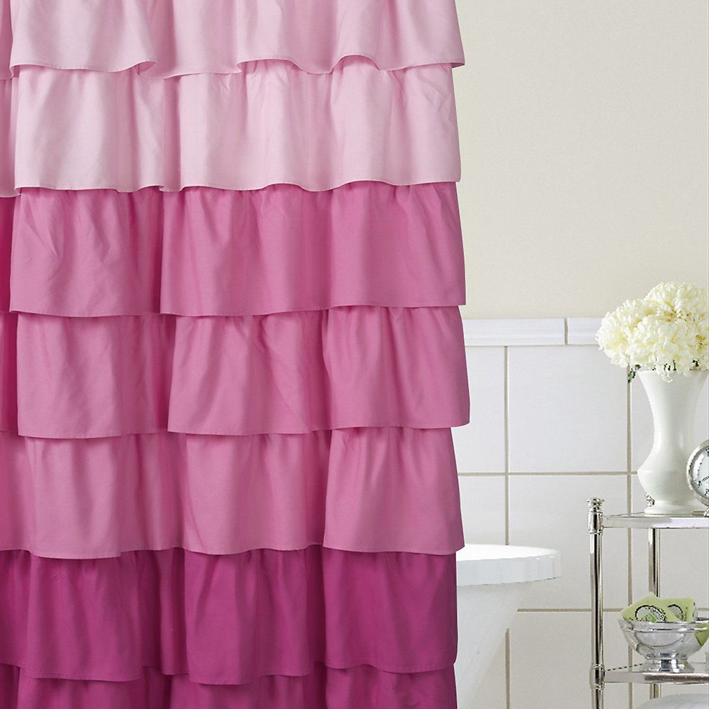 Home Classics Ruffle Ombre Fabric Shower Curtain Kohls Fabric Shower Curtains Ombre Shower Curtain Cool