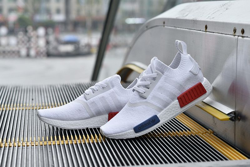 adidas nmd primeknit runner boost white red blue s79168 295