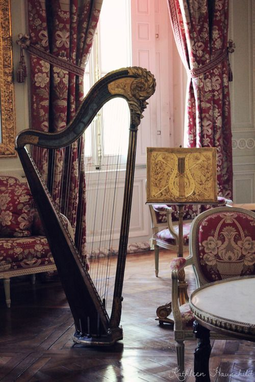 Harp At the Petit Trianon in Versailles
