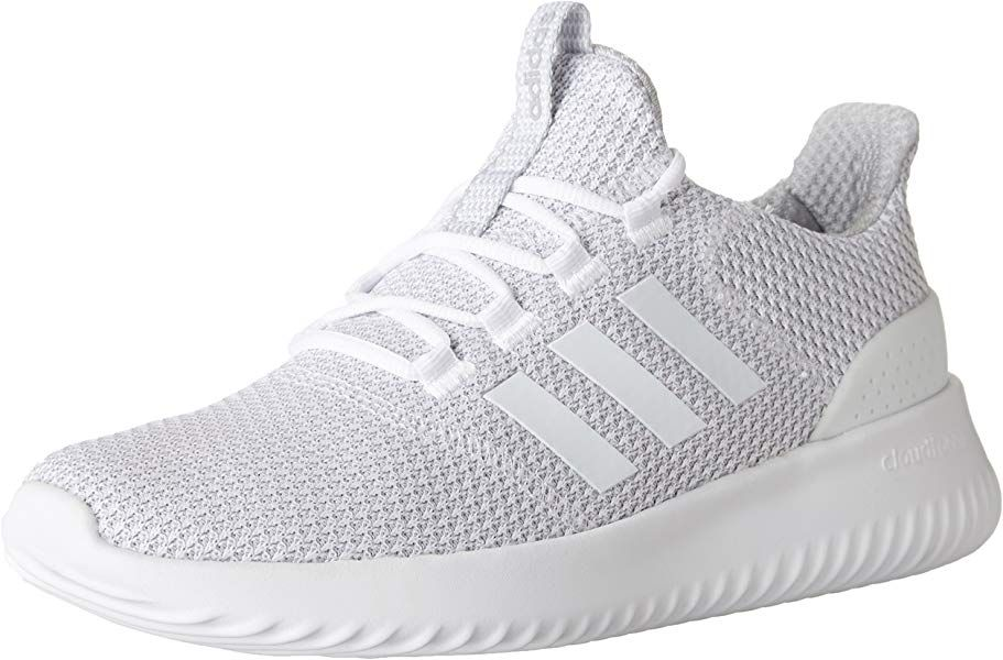 a98d4b04b93d2 Amazon.com | adidas Men's Cloudfoam Ultimate Running Shoe White/Grey ...