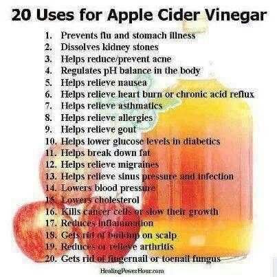 Apple cider vinegar....