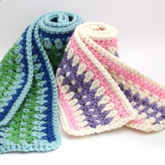 Free Crochet Pattern - Galilee Scarf // Portable way to make strips ...
