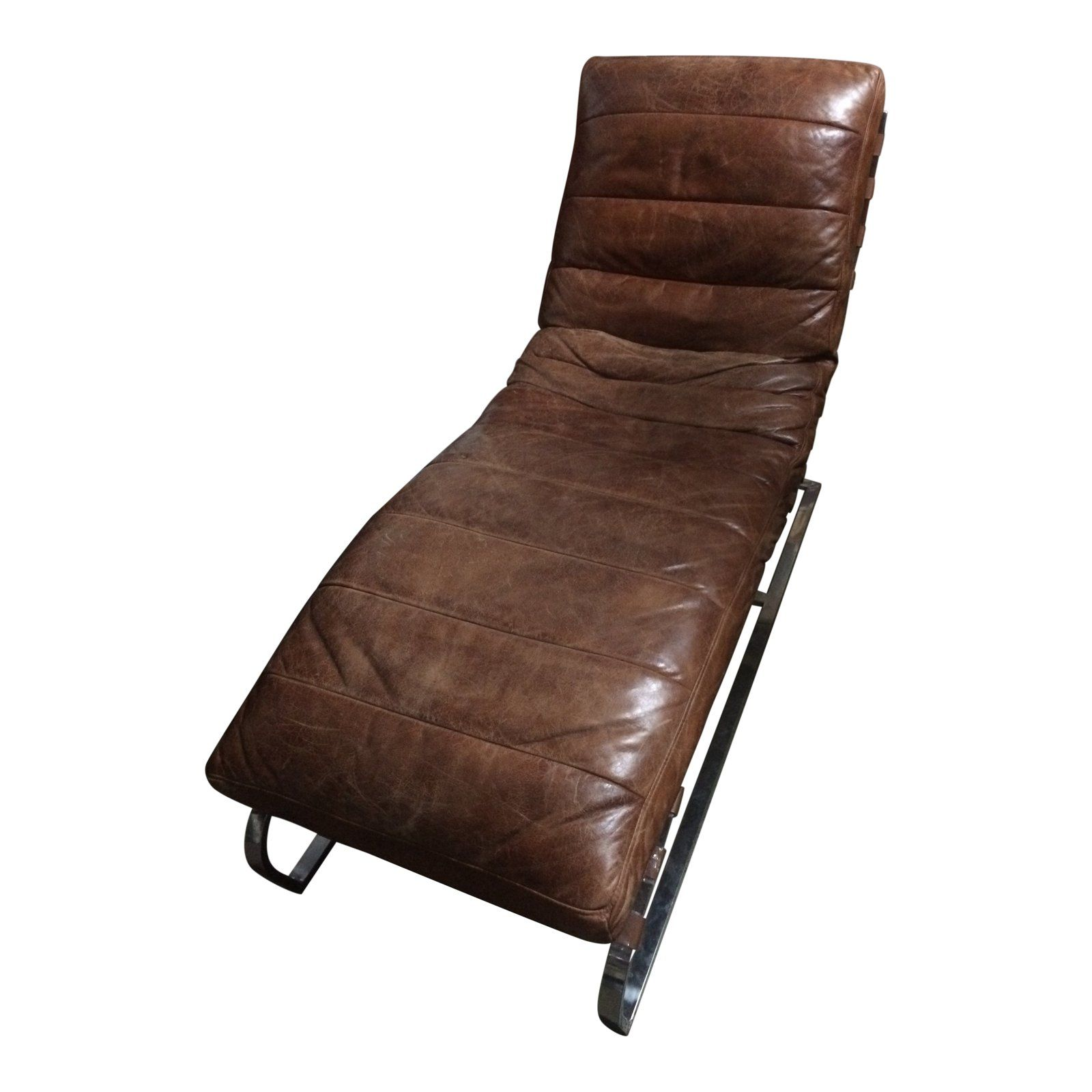 Brown Leather Chaise Lounge Price 720 Was 1 200 Buy Me Nowmake