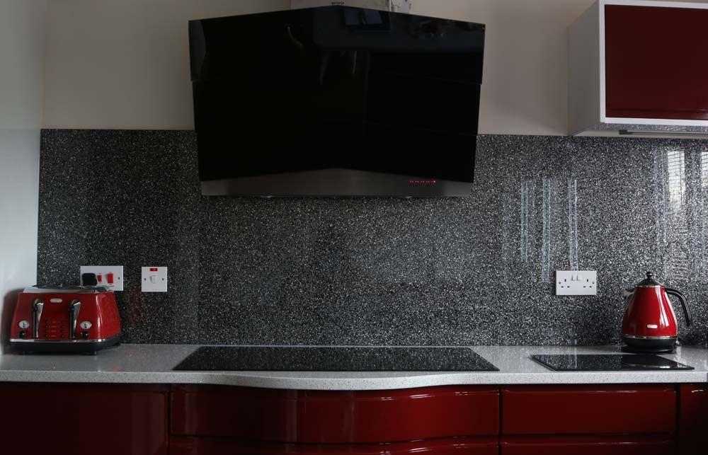 Starlight  Luxury Kitchen Glass Splashback By CreoGlass Design (London,UK).  #
