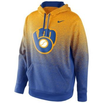 online store 681f0 97d45 Nike Milwaukee Brewers KO Therma-FIT Hoodie - Men | My Style ...