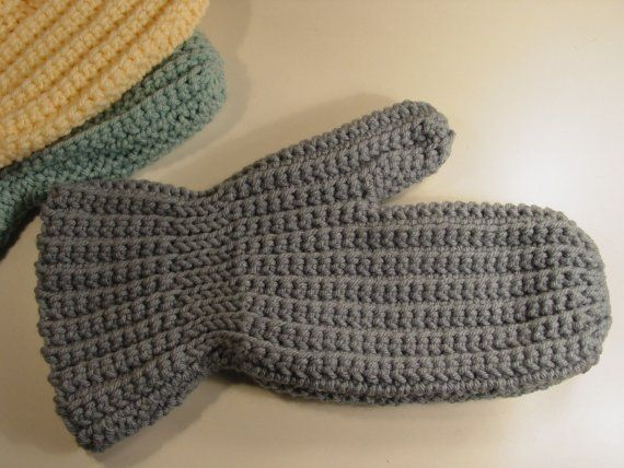 Easy Sideways Crochet Mittens Pattern  pdf by madcowdog on Etsy  This is the pattern I need but it is supposed to be in public domain