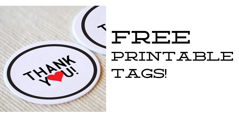 Free printable thank you tags for your wedding or gifts from yes, dear. studio