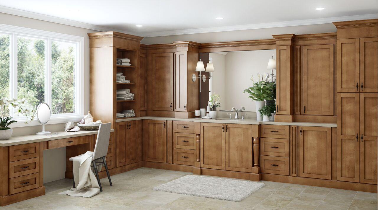 Hargrove Base Cabinets In Cinnamon Kitchen The Home Depot In 2020 Pantry Cabinet Base Cabinets Cabinetry