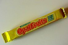 In 1960, Mars invented the healthy candy bar.  At first they were called Opal Fruits, but better known as Star Bursts. The first four original flavors were strawberry, lemon, orange, and lime. With more being made later.
