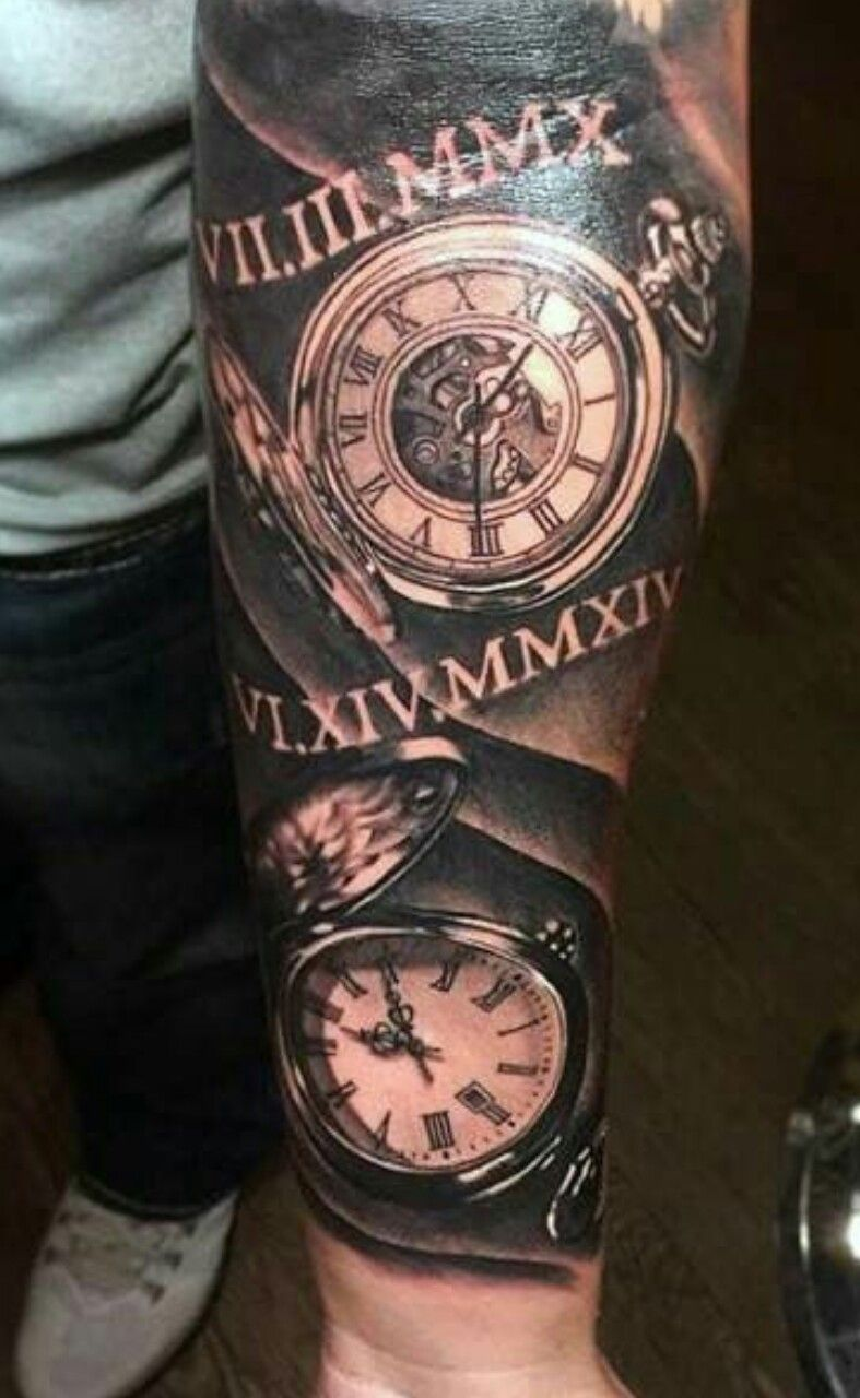Pin By Michelle Frank On Tattoos Pocket Watch Tattoos Watch