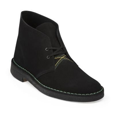 28a1db8d3f4bd Clarks Desert Boot in Jamaican Black Suede
