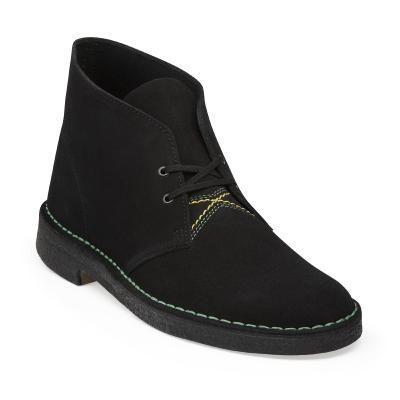 Clarks Desert Boot in Jamaican Black Suede