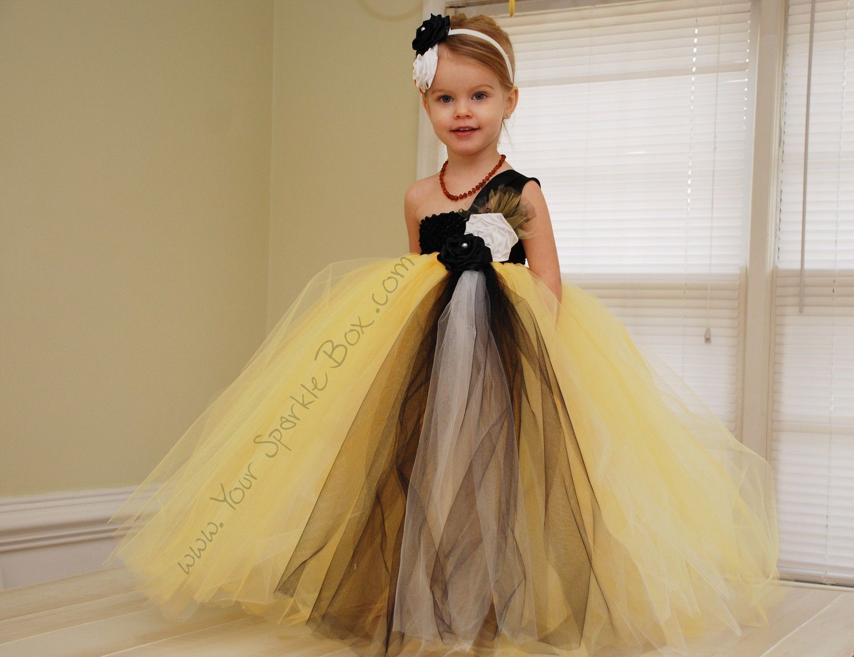 Black Gold White Tutu Dress Steelers Pittsburgh Football Wedding
