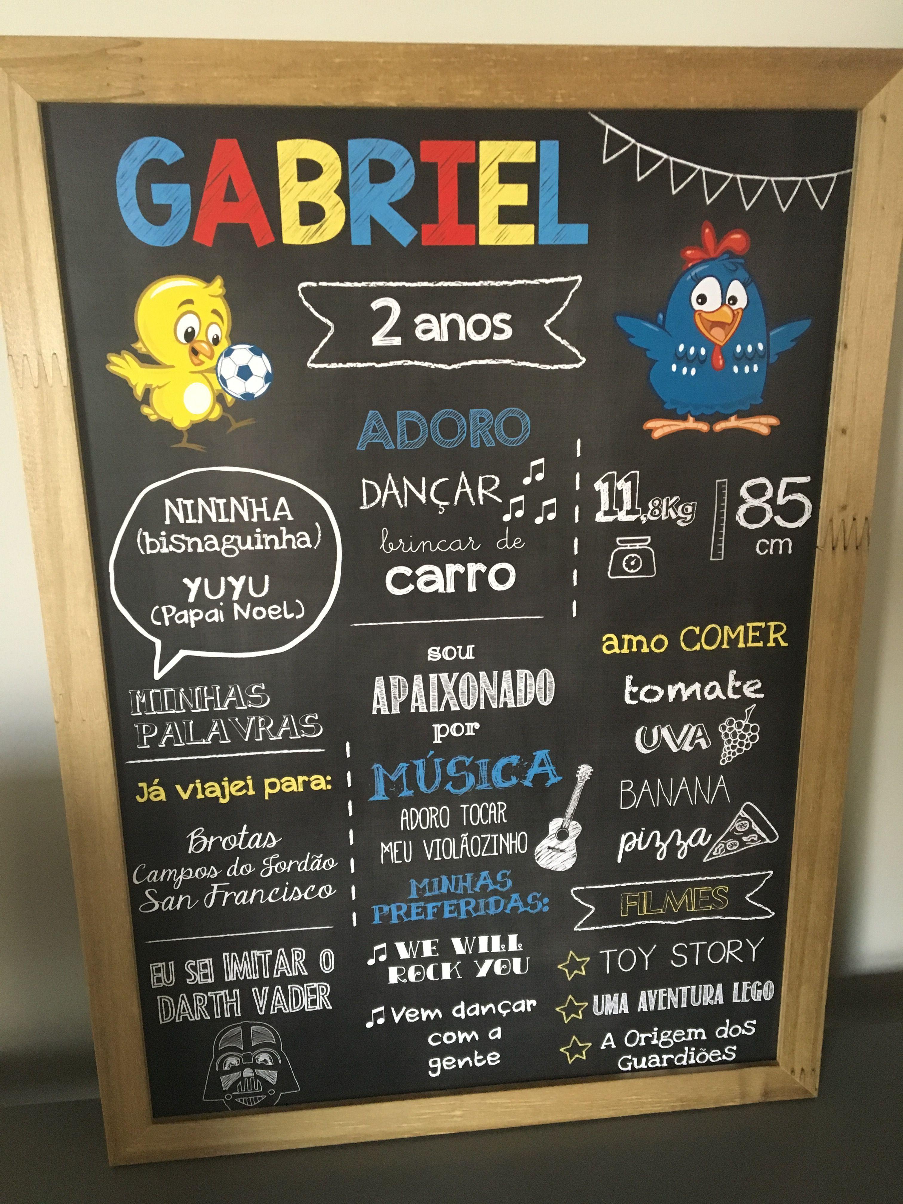 Chalkboard Galinha Pintadinha by @lovechalkboard