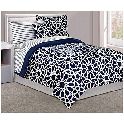 Dan River® Twin Spiral Navy 6-Piece Bed-In-A-Bag at Big Lots Life