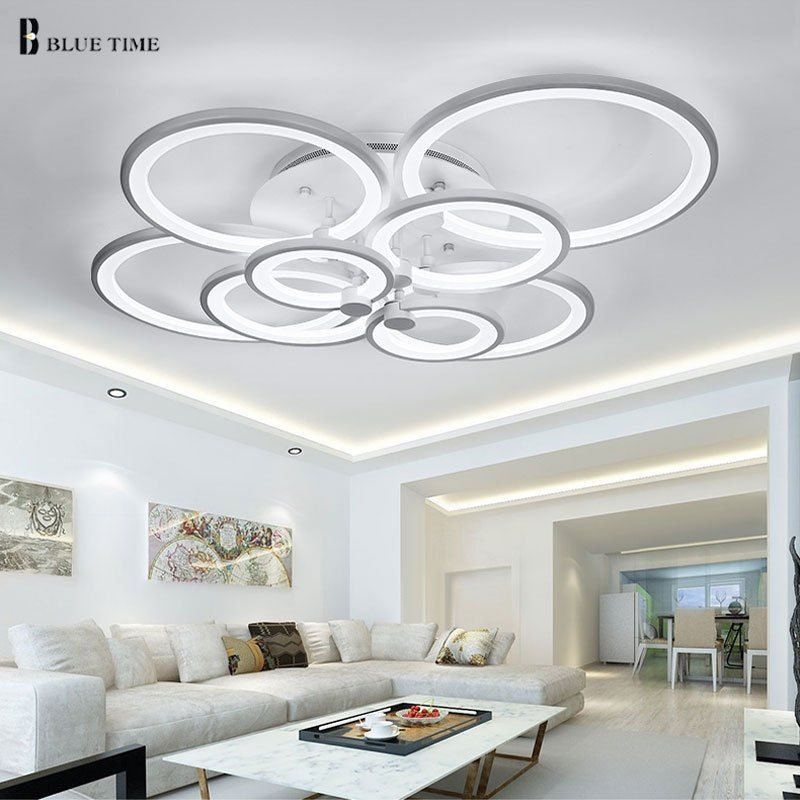 Black White Color Modern Led Ceiling Lights For Living Room Bedroom Plafon Led Home Lighting Living Room Lighting Led Ceiling Lights Led Ceiling Light Fixtures
