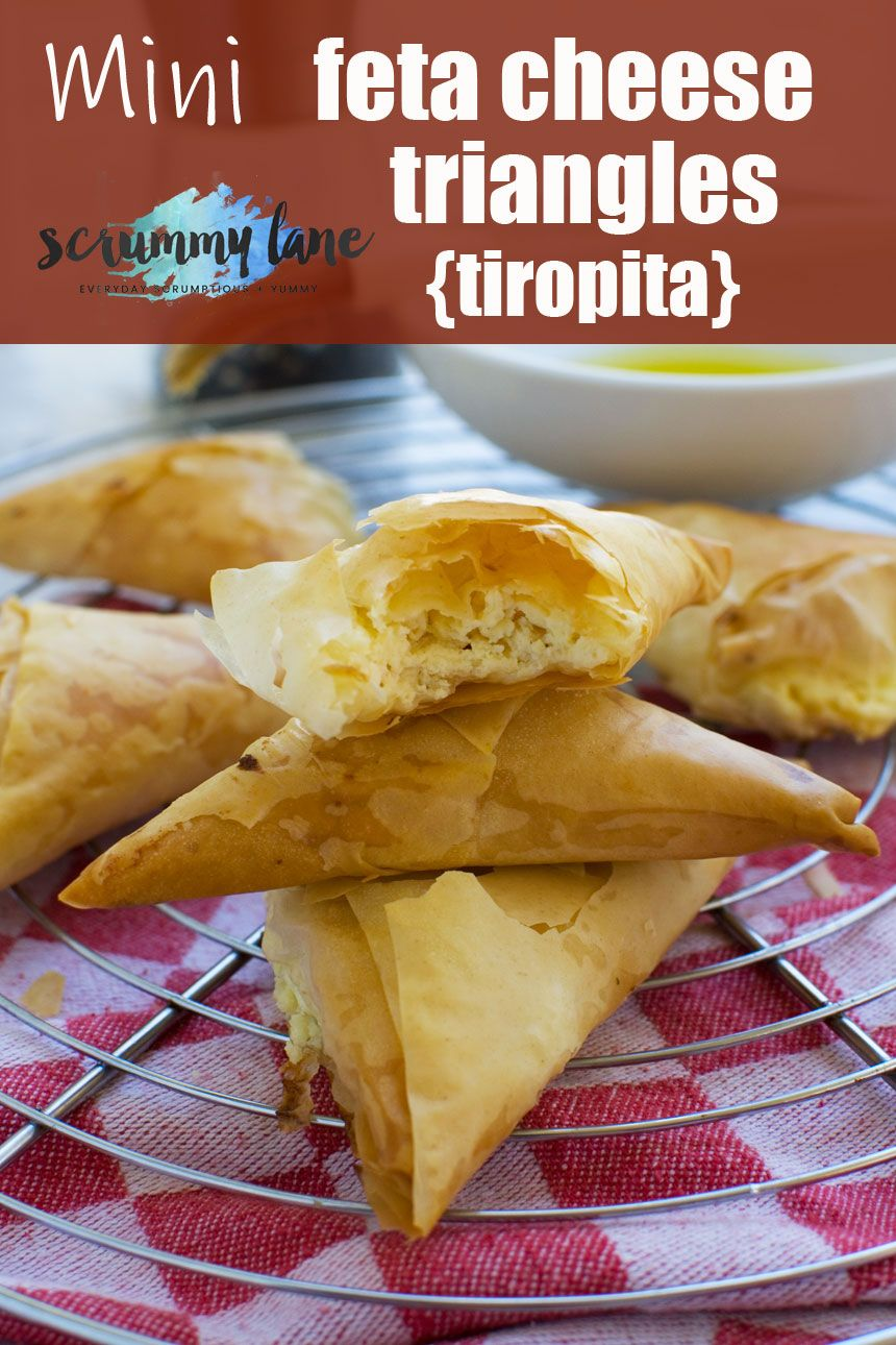 Tiropita or mini Greek cheese pies These crowd pleasing and super easy make-ahead mini Greek cheese