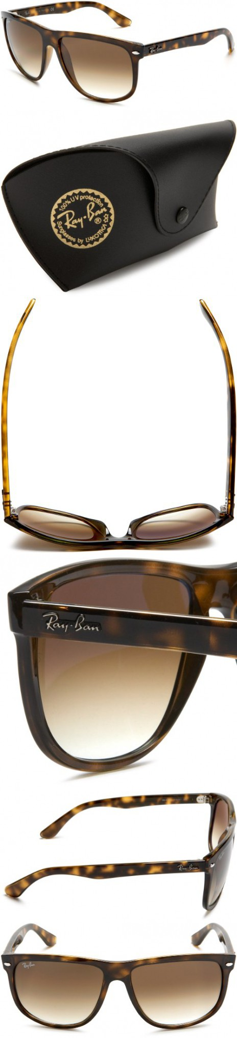 4db0dd19c90 Ray-Ban RB4147 - LIGHT HAVANA Frame CRYSTAL BROWN GRADIENT Lenses 60mm  Non-Polarized