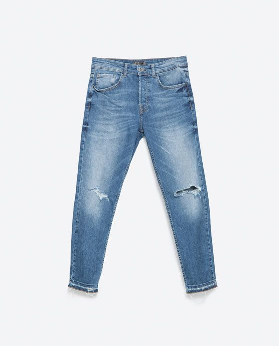 Skinny Jeans With Frayed Hem View All Jeans Man Mens Fashion Jeans Mens Fashion Coat Mens Dress Coat