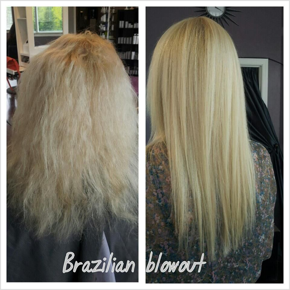 Brazilian Blowout before and after | Hair by Stephanie ...