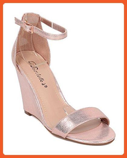 59b2bc49da9 Ankle Strap Wedge Sandal - Single Sole Wedge Heel - Dressy Wedding ...