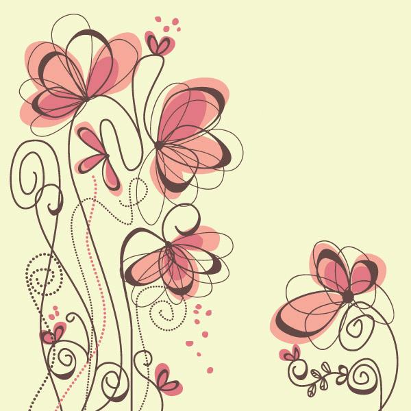 Tarjetas De Flores Para Imprimir цветы абстрактные цветы рисунки