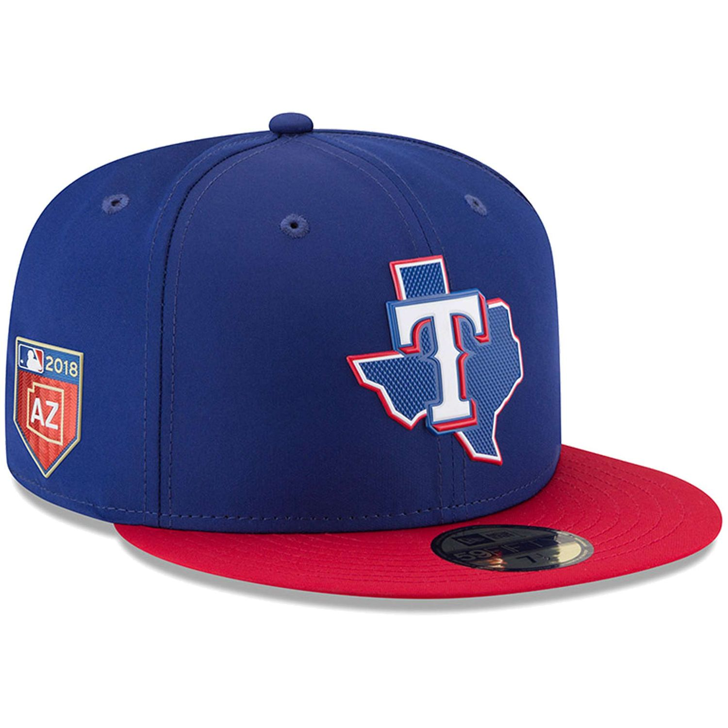 wholesale dealer 25cd2 d61d0 Men s Texas Rangers New Era Navy 2018 Spring Training Collection Prolight  59FIFTY Fitted Hat
