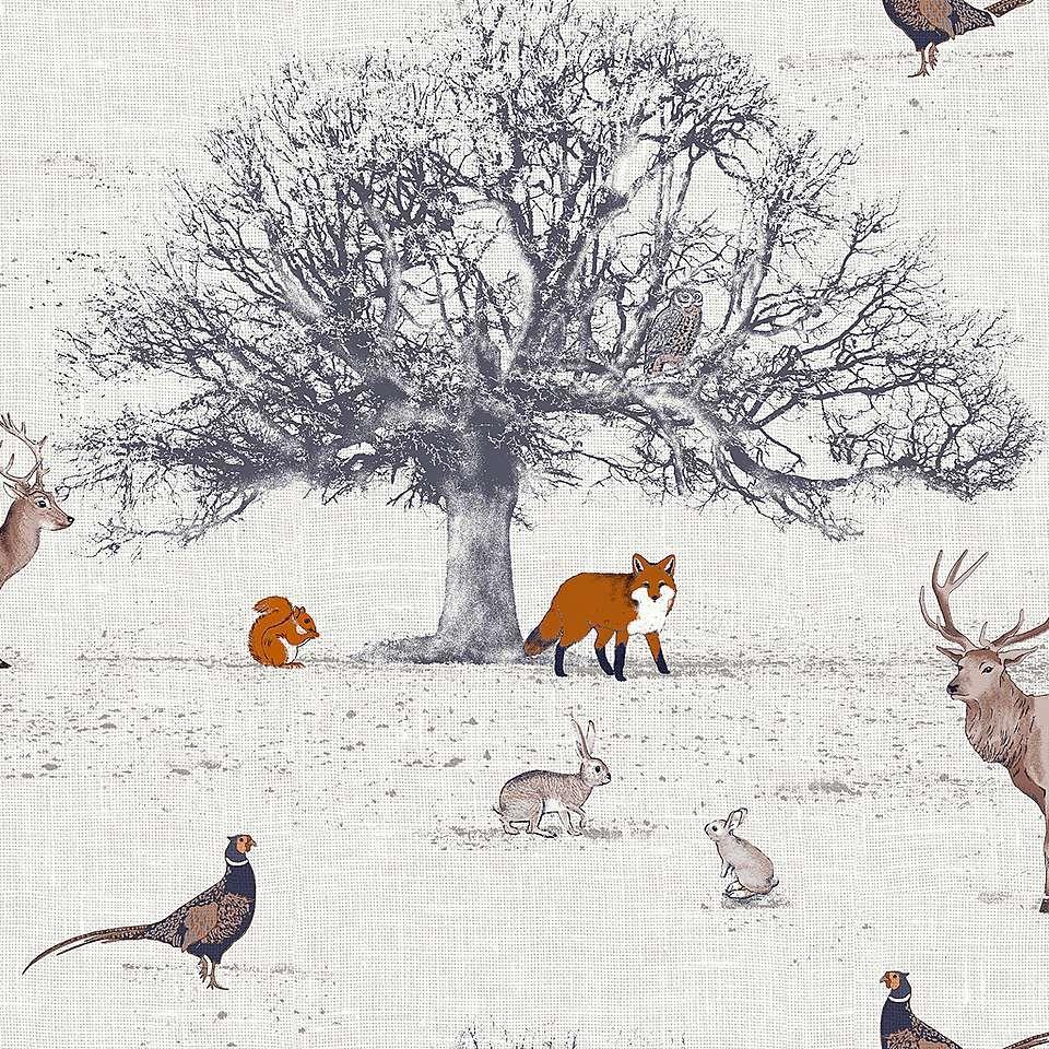 Woodland Fabric, Dunelm, Woodland