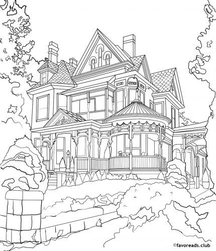 victorian mansion coloring pages - photo#3