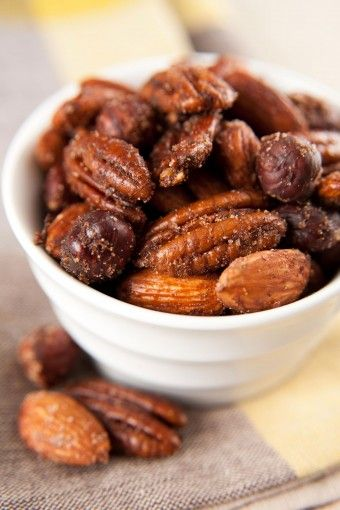 Hot Pecans! Turn up the heat with a handful of these pecans. #healthysnack #pecan