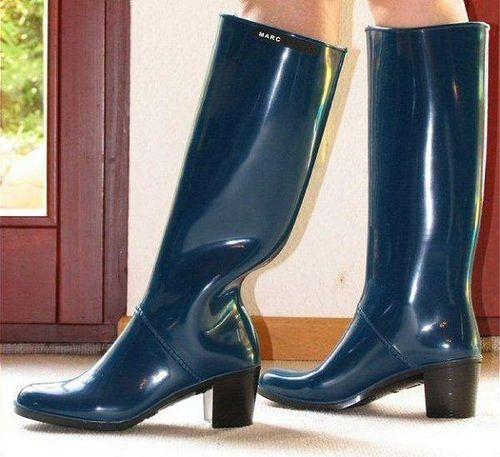Blue Marc Jacobs | Freya's world of high heel rubber boots | Flickr